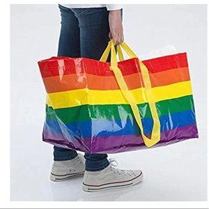 New IKEA Large Rainbow Pride Reusable Shopping Bag